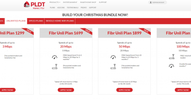 pldt website shows fibr 1299
