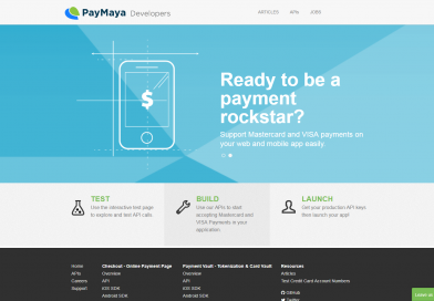 payamaya developers webpage